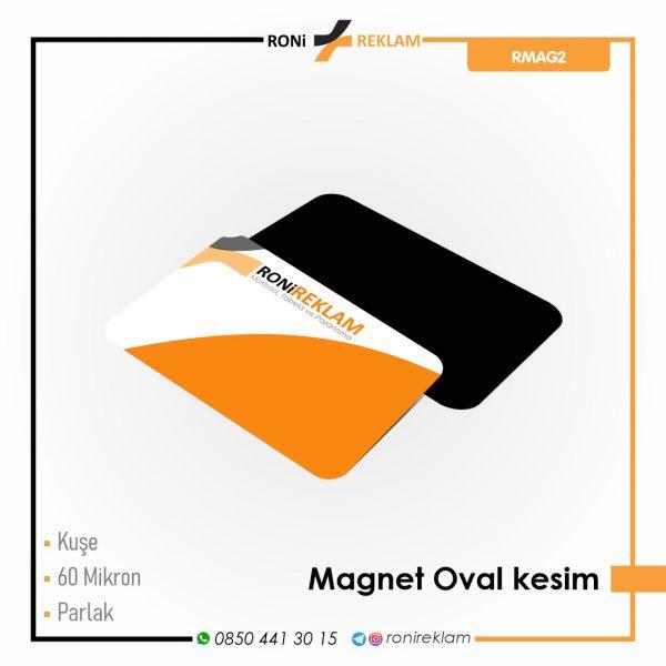 Magnet Oval kesim Baskı